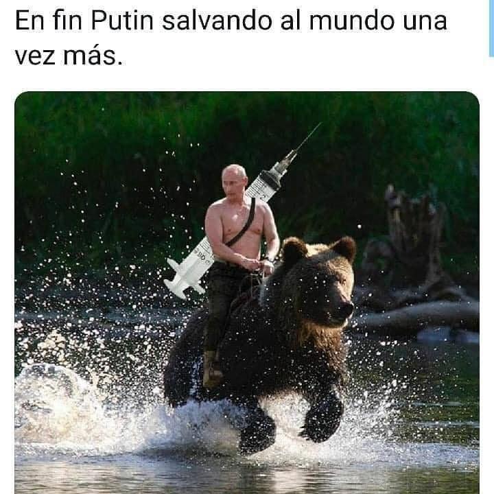 En fin Putin salvando al mundo una vez más.