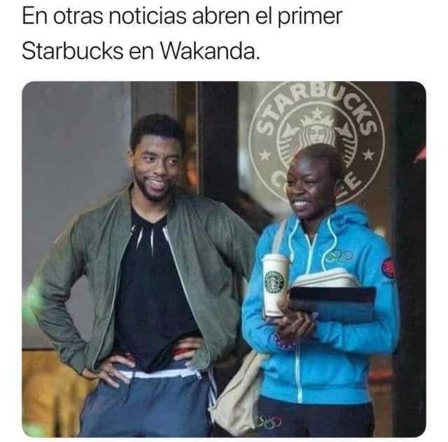 En otras noticias abren el primer Starbucks en Wakanda.