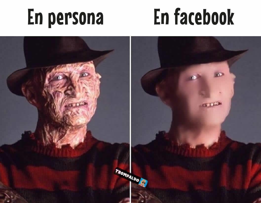 En persona // En facebook