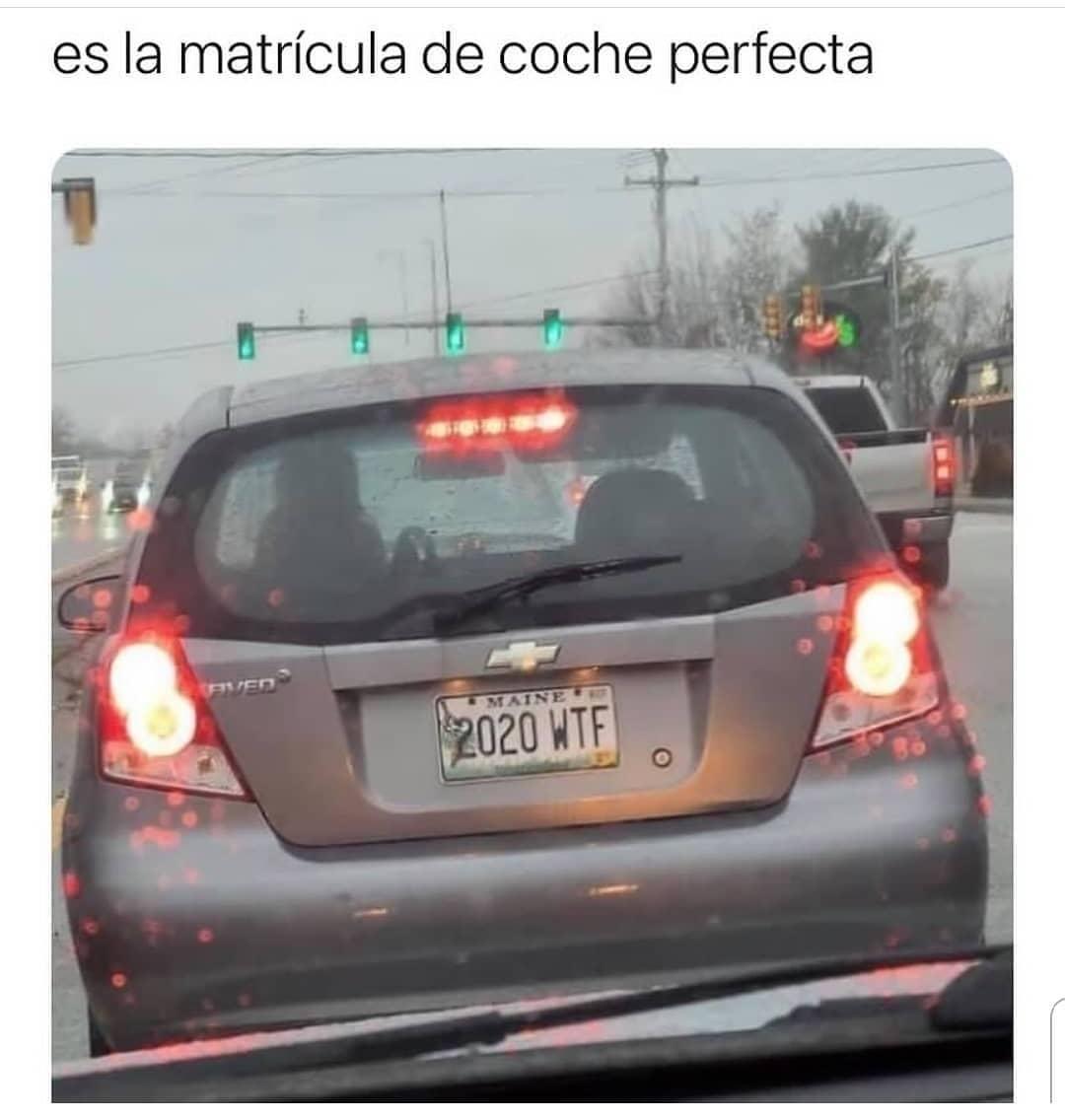 Es la matrícula de coche perfecta.