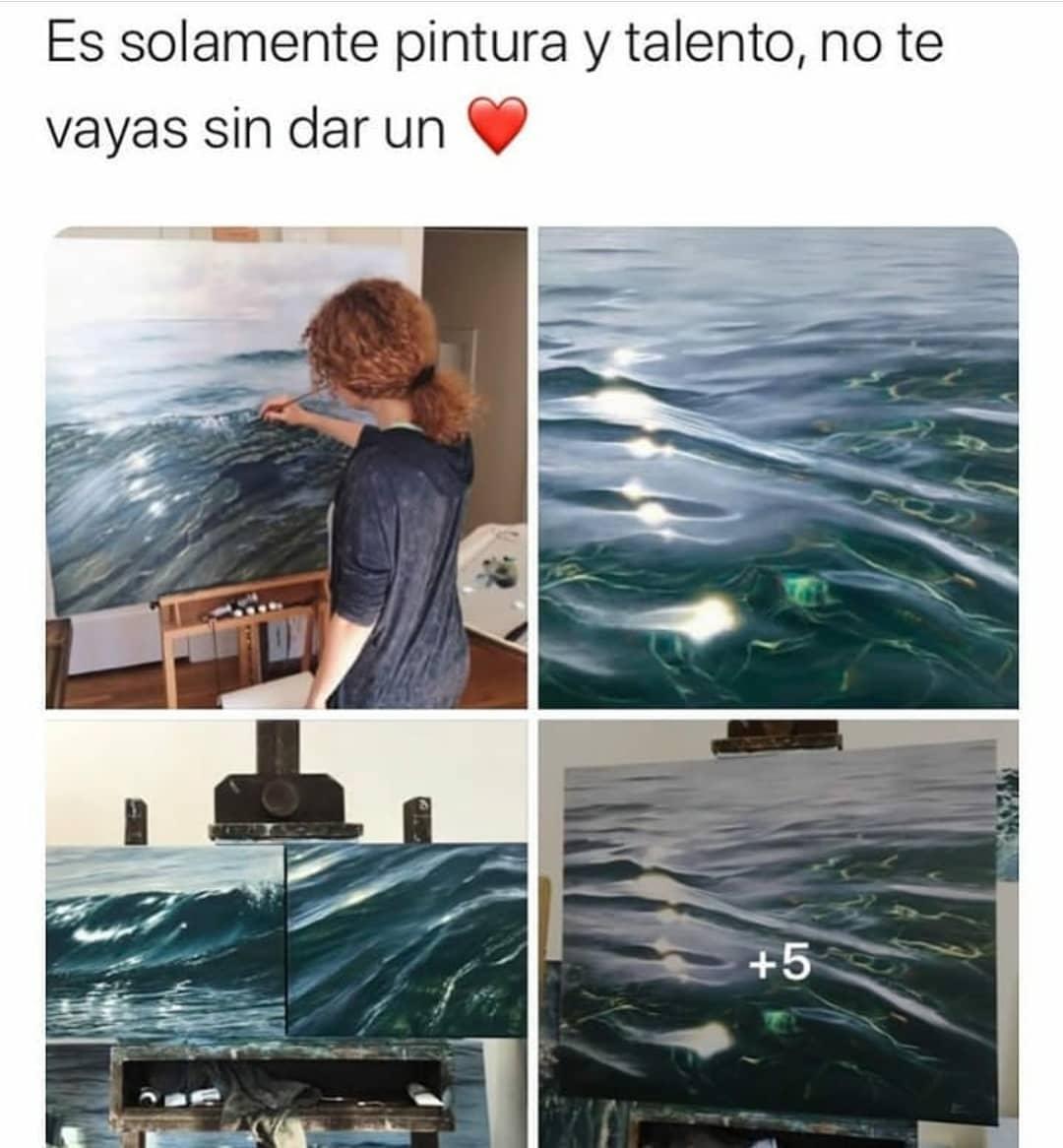 Es solamente pintura y talento, no te vayas sin dar un corazón.