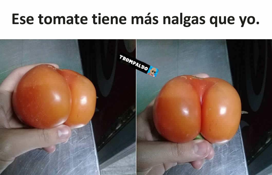 Ese tomate tiene más nalgas que yo.