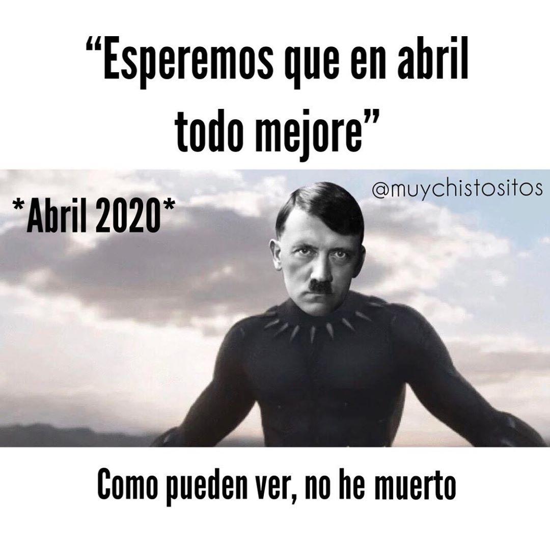 """""""Esperemos que en abril todo mejore"""".  *Abril 2020*.  Como pueden ver, no he muerto."""