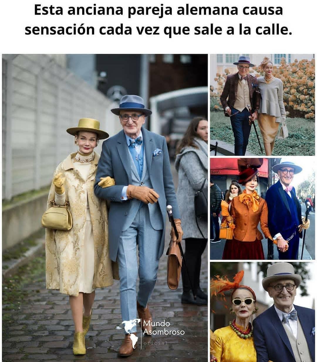 Esta anciana pareja alemana causa sensación cada vez que sale a la calle.