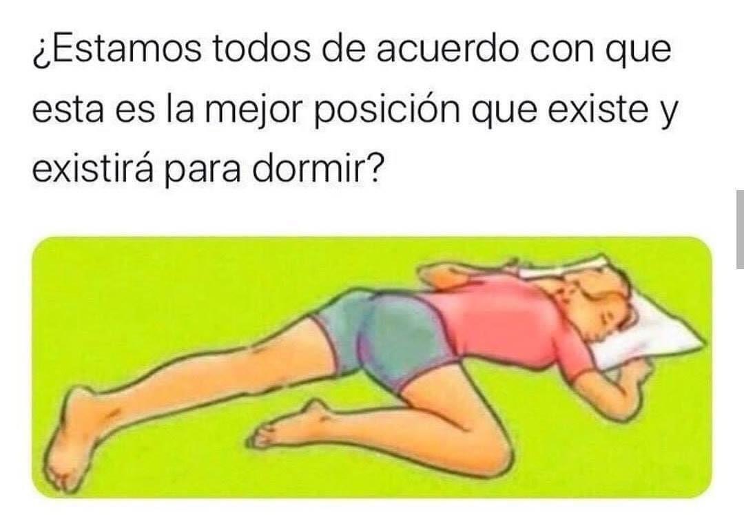 Estamos todos de acuerdo con que esta es la mejor posición que existe y existirá para dormir?