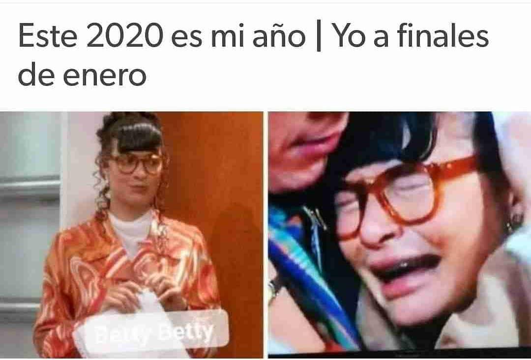 Este 2020 es mi año. / Yo a finales de enero.