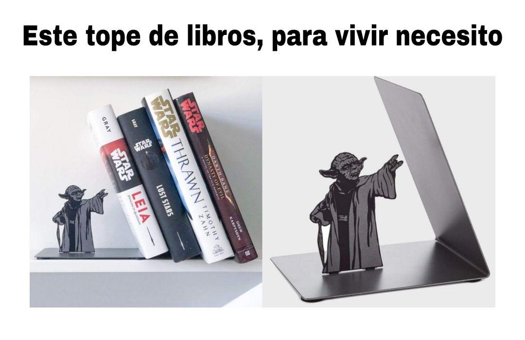 Este tope de libros, para vivir necesito.