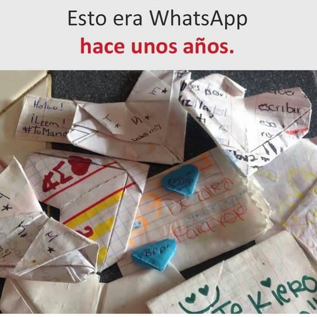 Esto era WhatsApp hace unos años.
