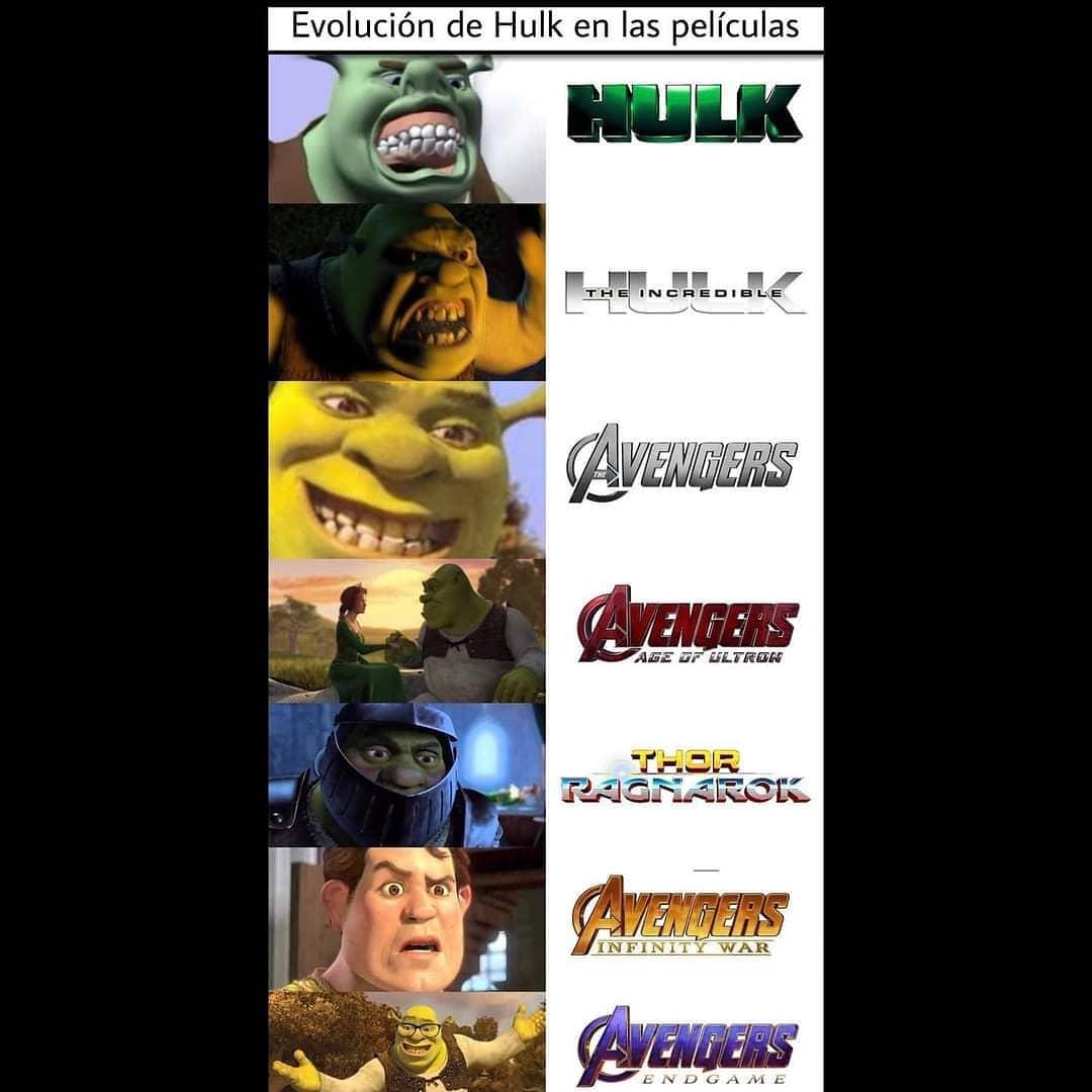 Evolución de Hulk en las películas: