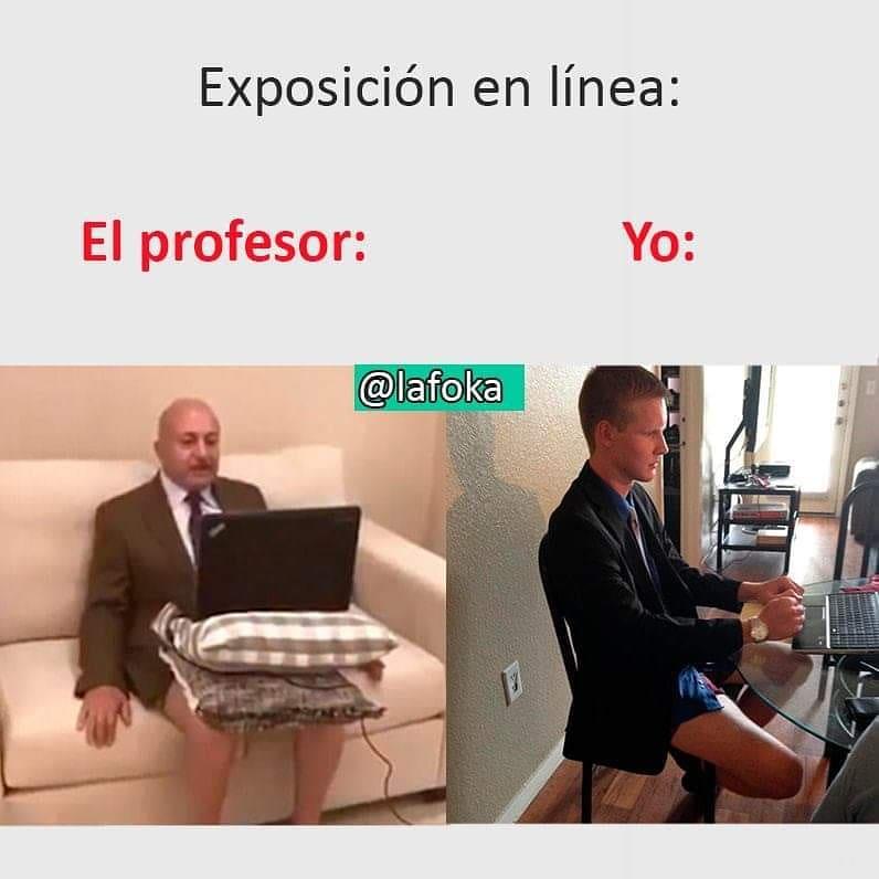 Exposición en línea:  El profesor: / Yo: