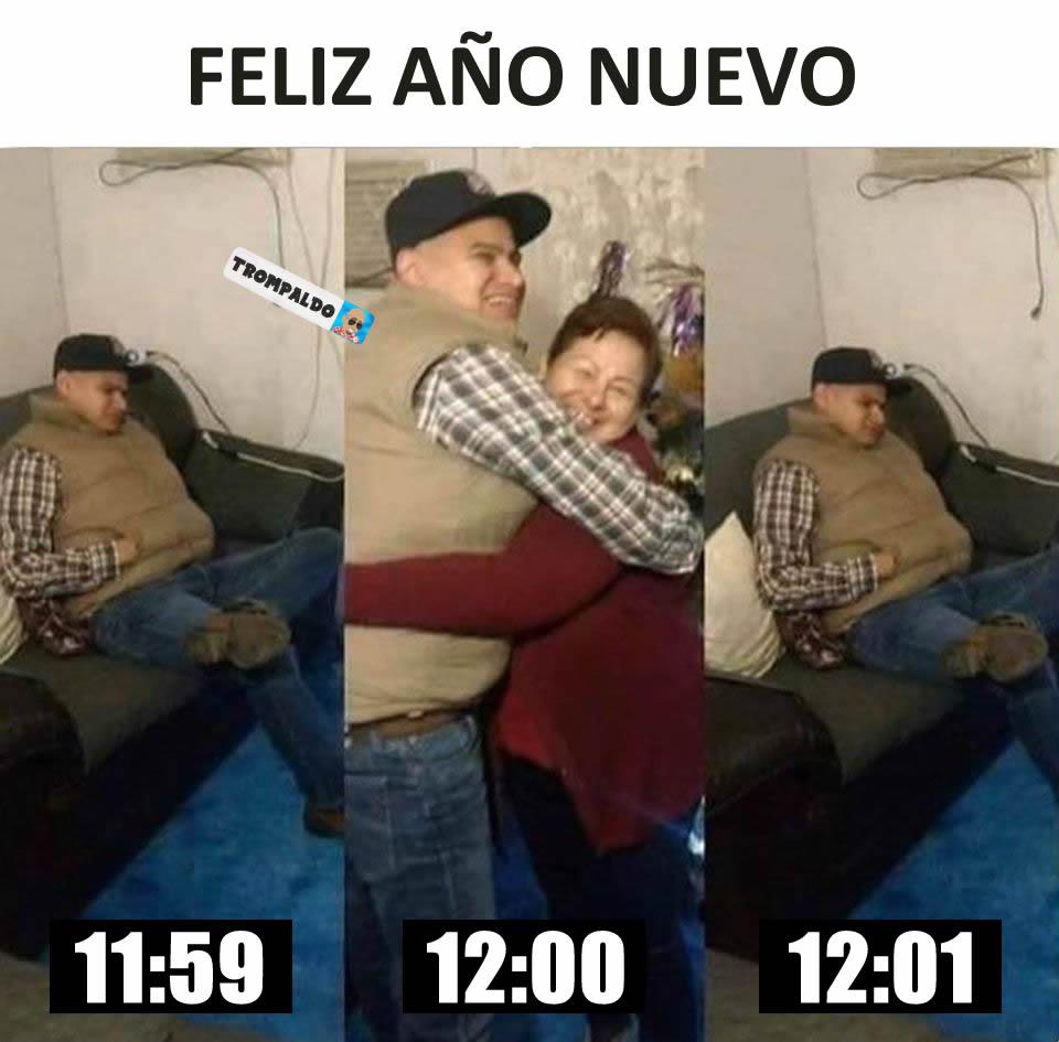 Feliz Año Nuevo  11:59 / 12:00 / 12:01