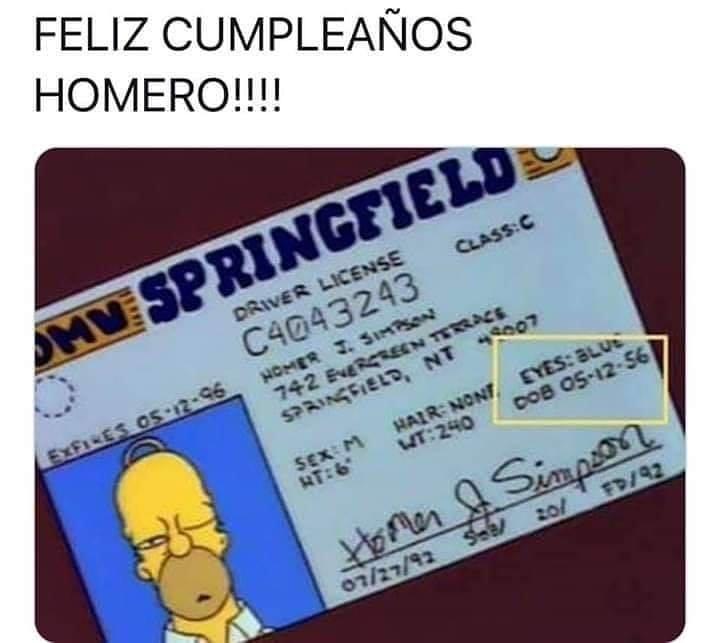 Feliz cumpleaños Homero!!!!