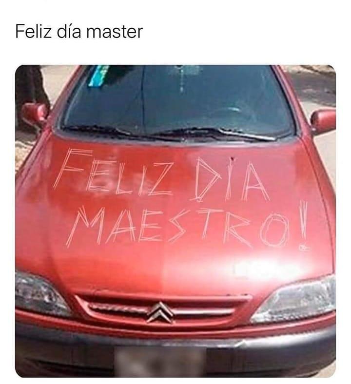 Feliz día master.