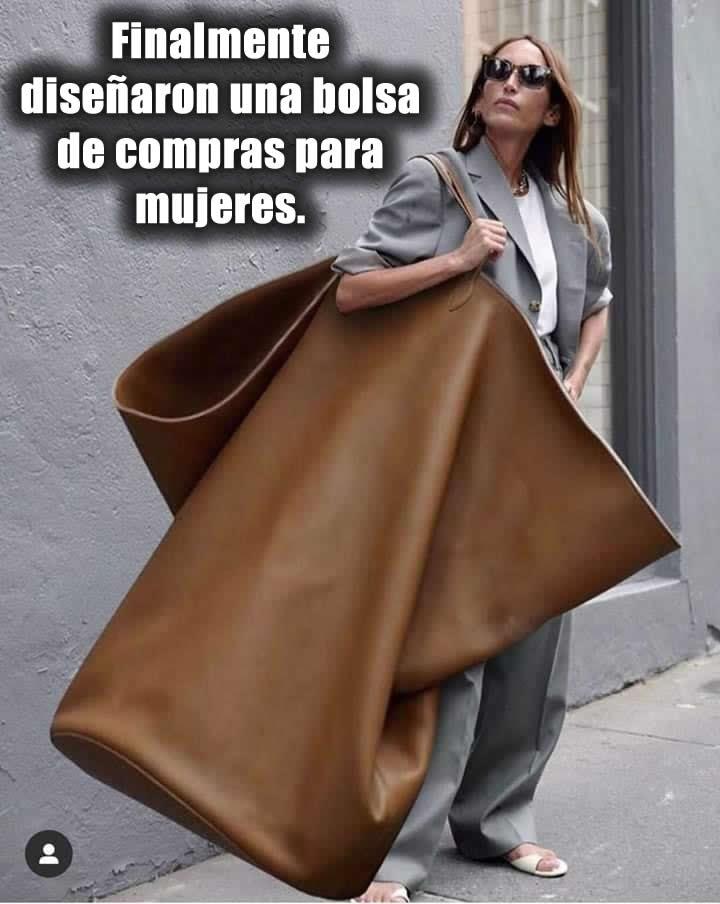 Finalmente diseñaron una bolsa de compras para mujeres.