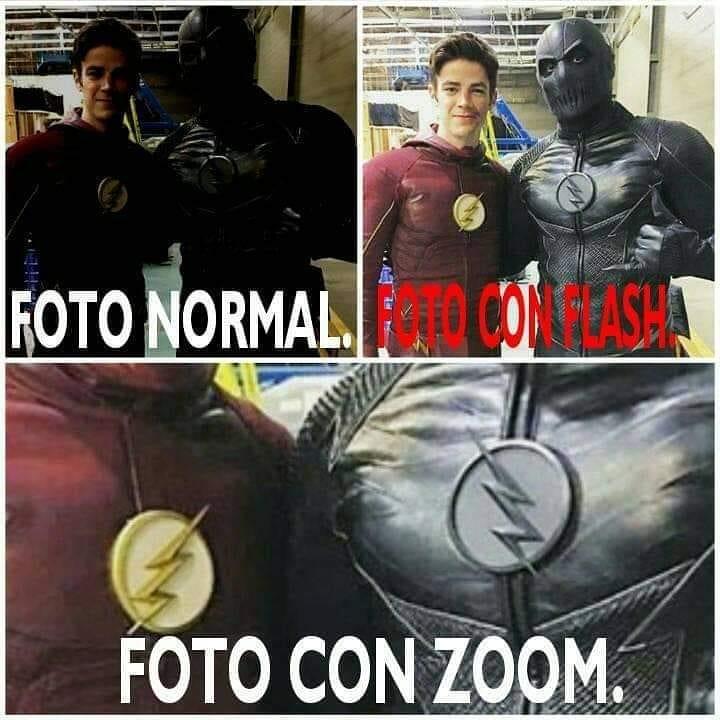 Foto normal. Foto con flash. Foto con zoom.