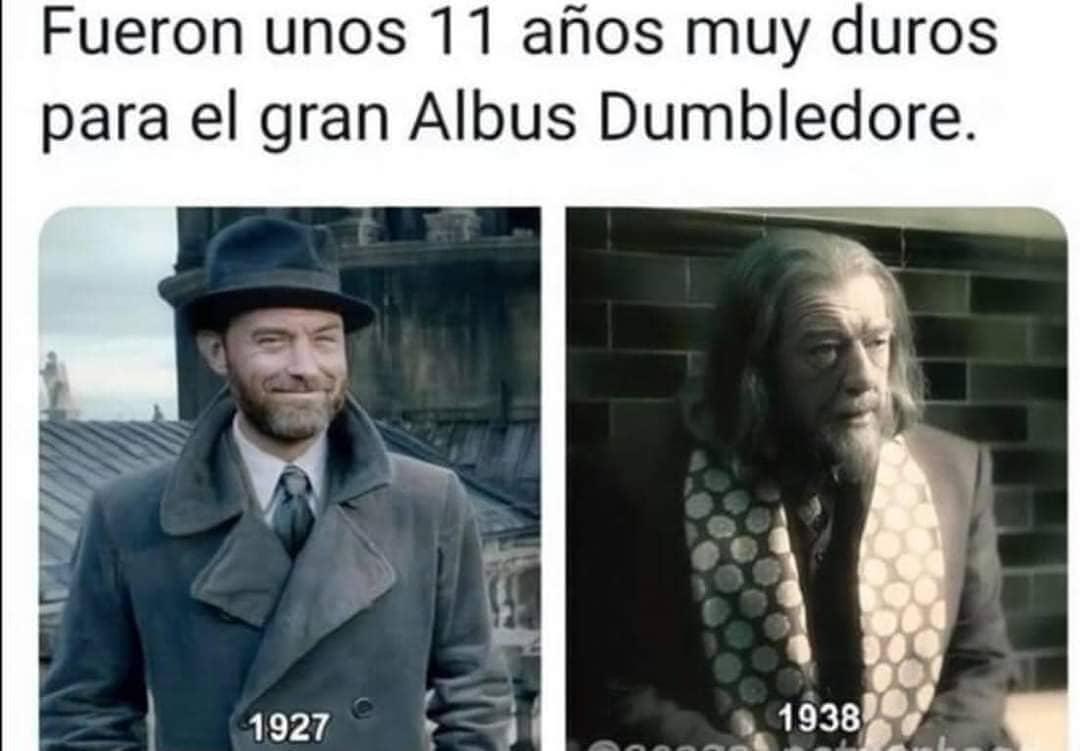 Fueron unos 11 años muy duros para el gran Albus Dumbledore. 1927. 1938.