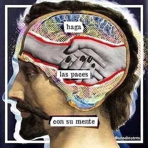 Haga las paces con su mente.