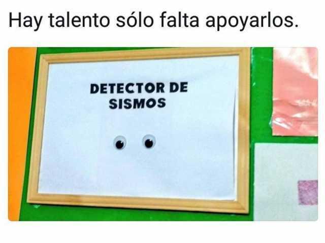 Hay talento sólo falta apoyarlos.  Detector de sismos.