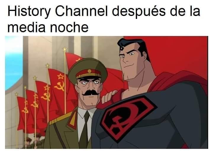 History Channel después de la media noche.