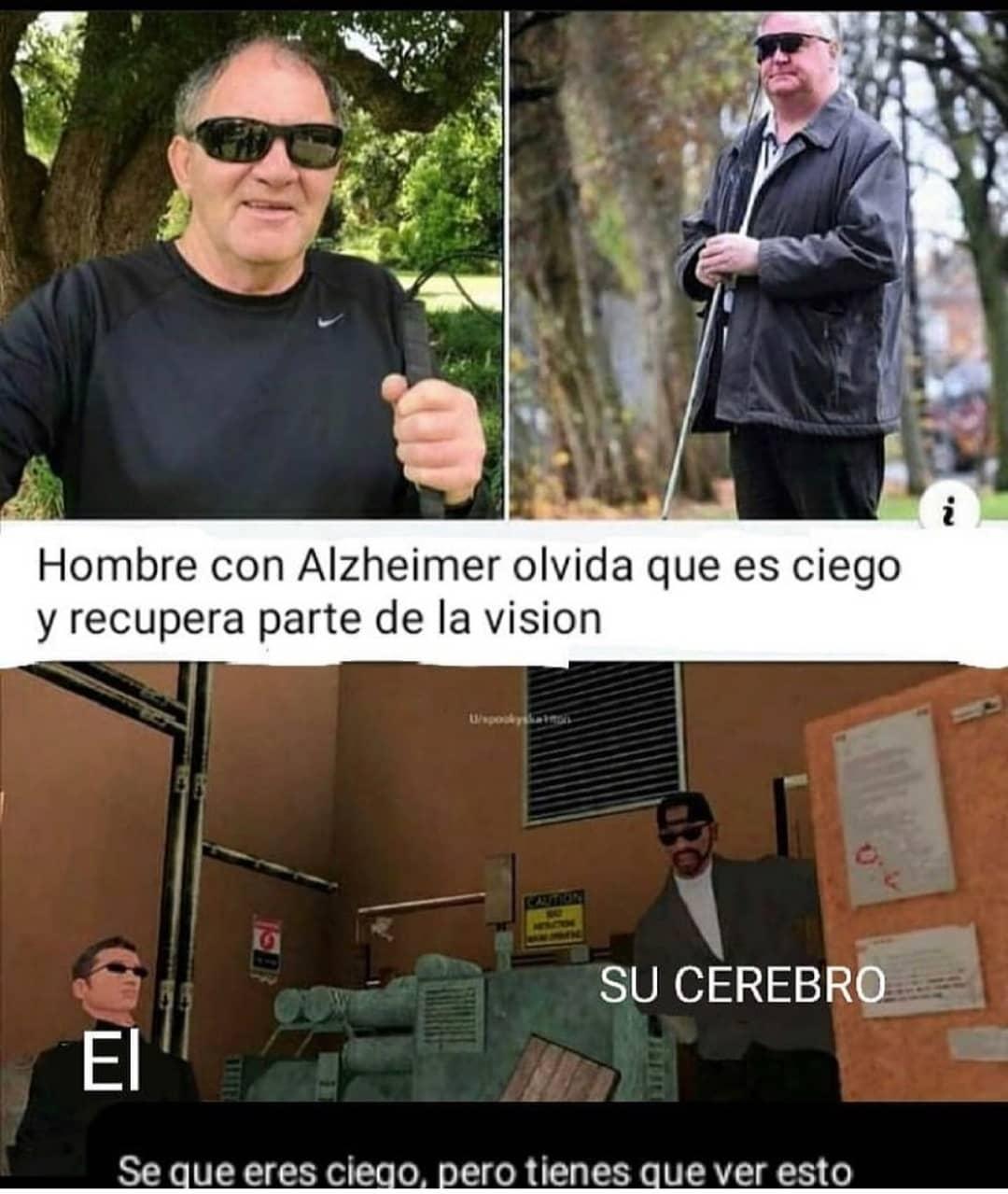 Hombre con Alzheimer olvida que es ciego y recupera parte de la visión.  Su cerebro. El. Sé que eres ciego, pero tienes que ver esto.