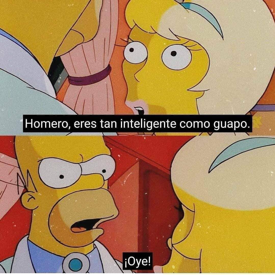 Homero, eres tan inteligente como guapo. ¡Oye!