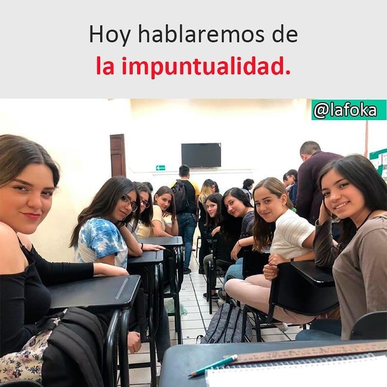 Hoy hablaremos de la impuntualidad.
