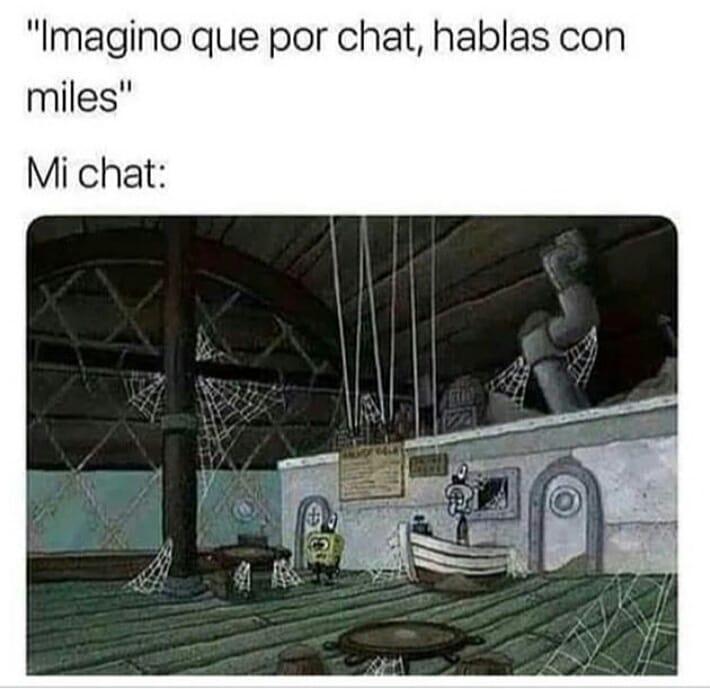 """""""Imagino que por chat, hablas con miles"""".  Mi chat:"""
