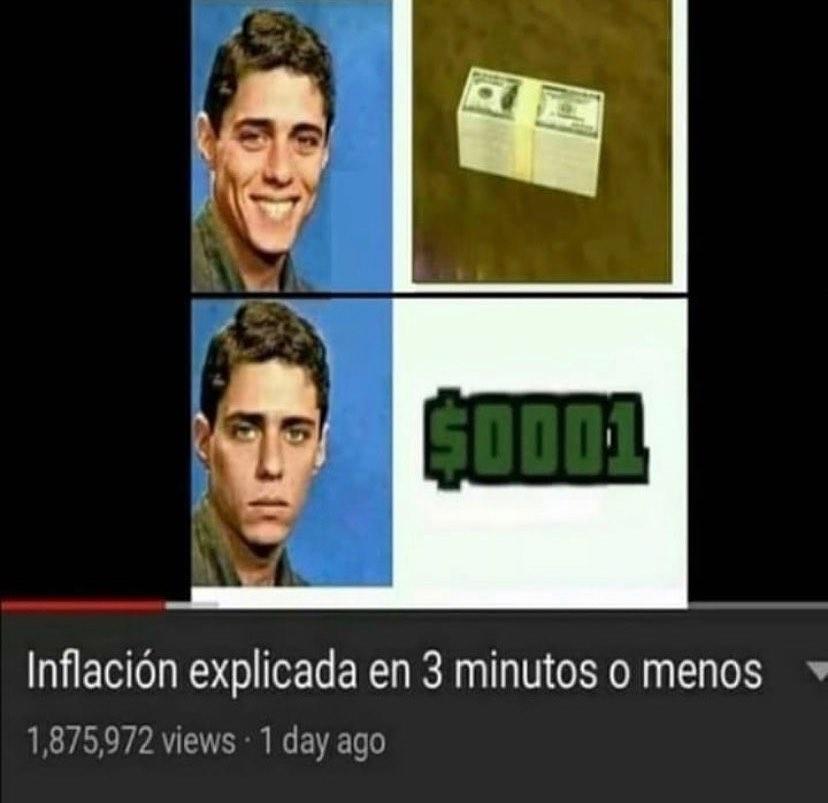 Inflación explicada en 3 minutos o menos.