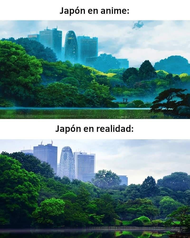 Japón en anime: Japón en realidad: