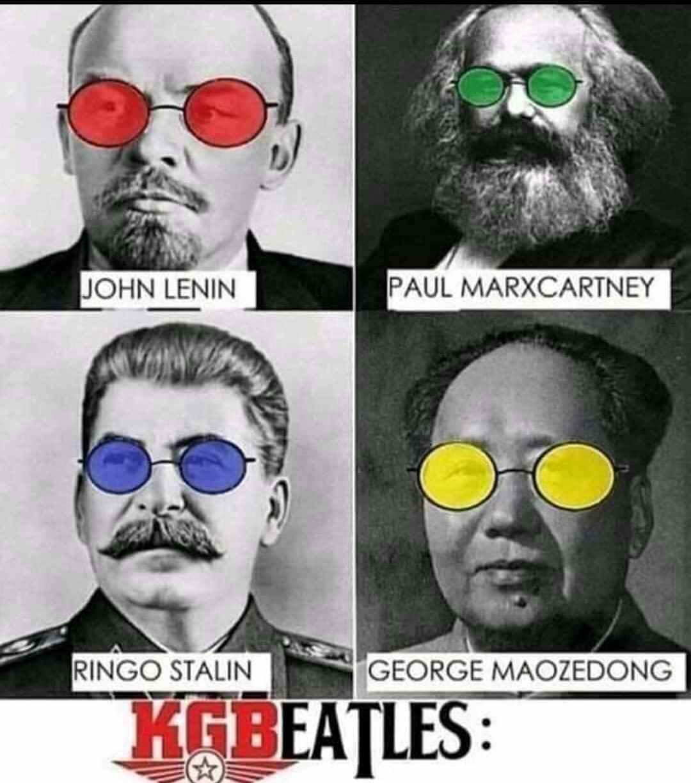John lenin. Paul marxcartney. Ringo stalin. George maozedong.