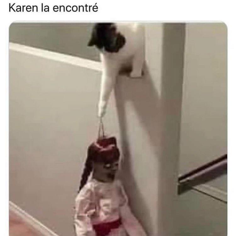 Karen la encontré.