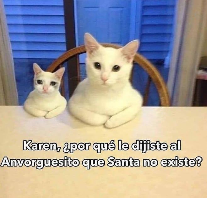 Karen, ¿por qué le dijiste al Anvorguesito que Santa no existe?
