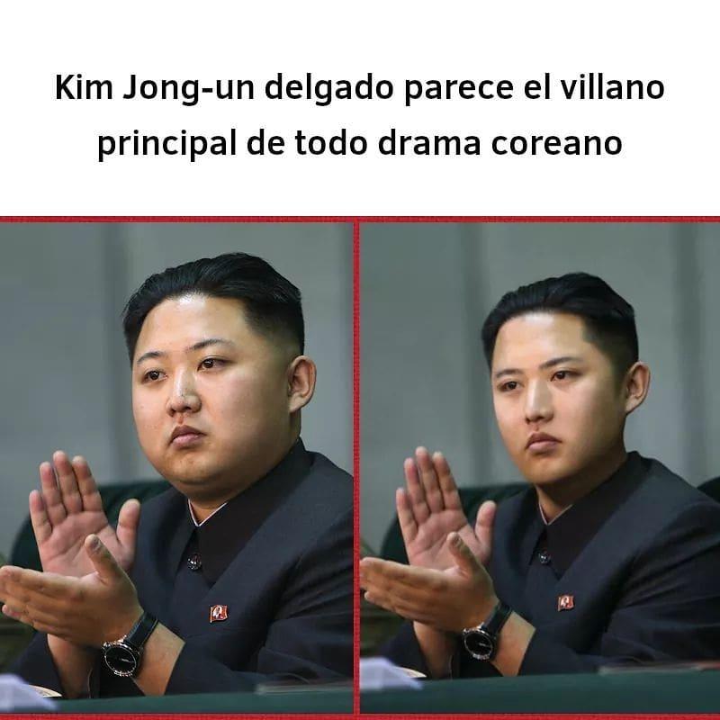 Kim Jong-un delgado parece el villano principal de todo drama coreano.