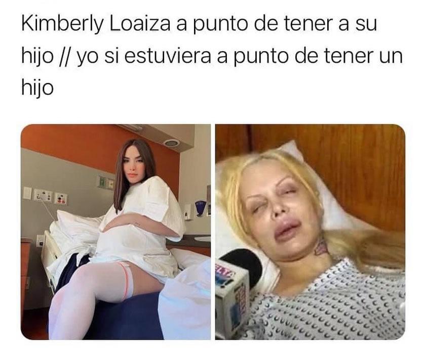 Kimberly Loaiza a punto de tener a su hijo. // Yo si estuviera a punto de tener un hijo.
