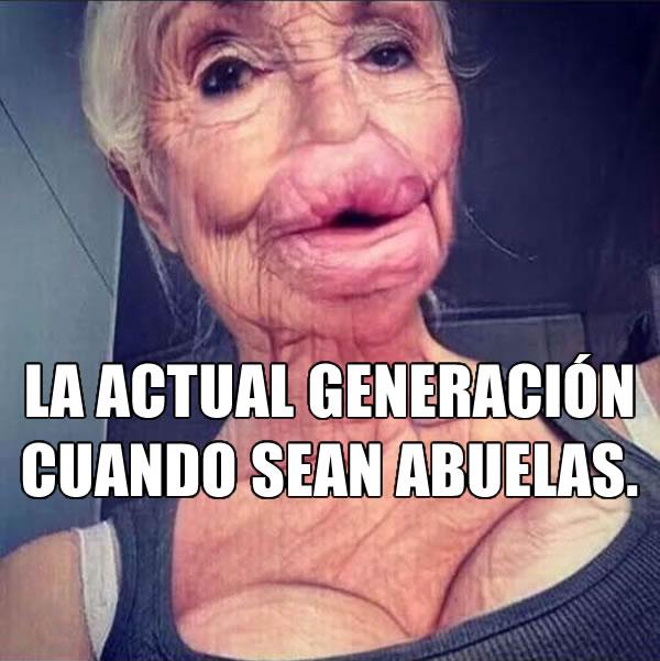 La actual generación cuando sean abuelas.