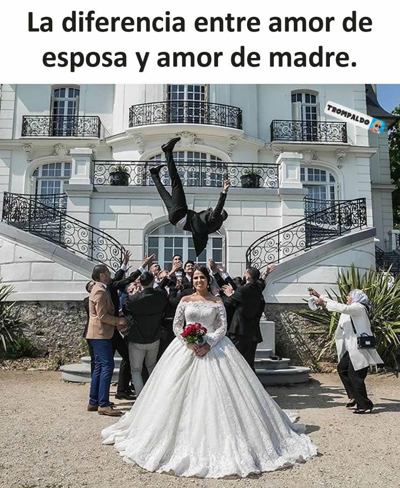 La diferencia entre amor de esposa y amor de madre.