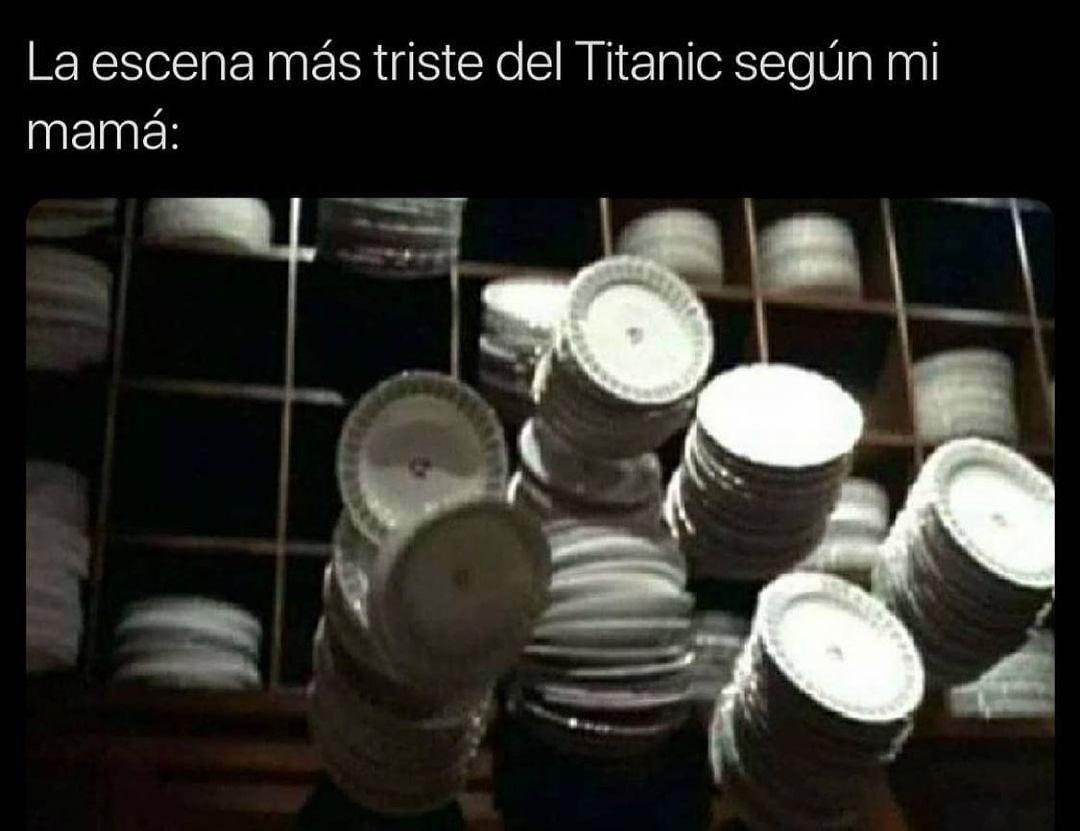 La escena más triste del Titanic según mi mamá: