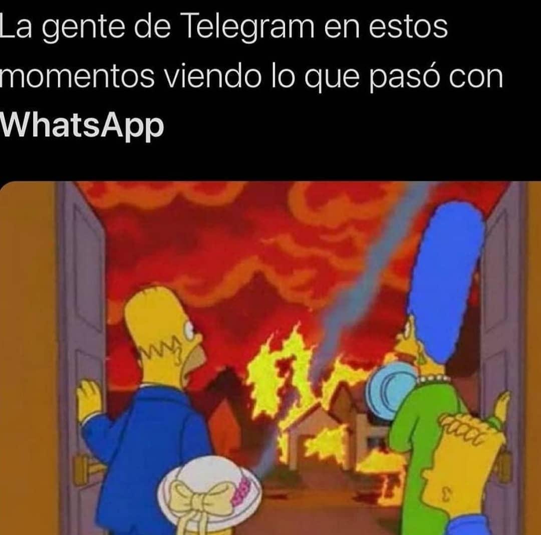 La gente de Telegram en estos momentos viendo lo que pasó con WhatsApp.