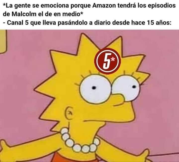 *La gente se emociona porque Amazon tendrá los episodios de Malcolm el de en medio*  Canal 5 que lleva pasándolo a diario desde hace 15 años: