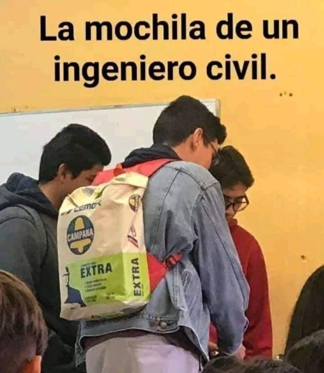 La mochila de un ingeniero civil.