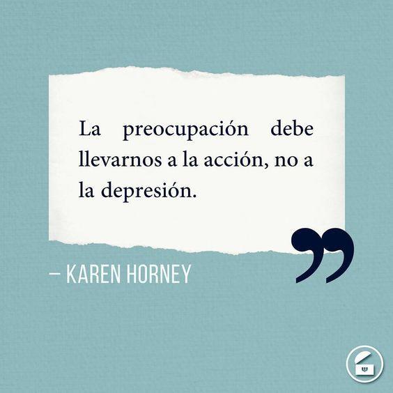 La preocupación debe llevarnos a la acción, no a la depresión.