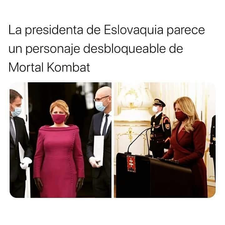 La presidenta de Eslovaquia parece un personaje desbloqueable de Mortal Kombat.