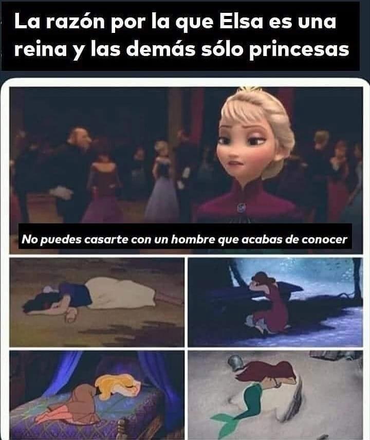 """La razón por la que Elsa es una reina y las demás sólo princesas: """"No puedes casarte con un hombre que acabas de conocer""""."""