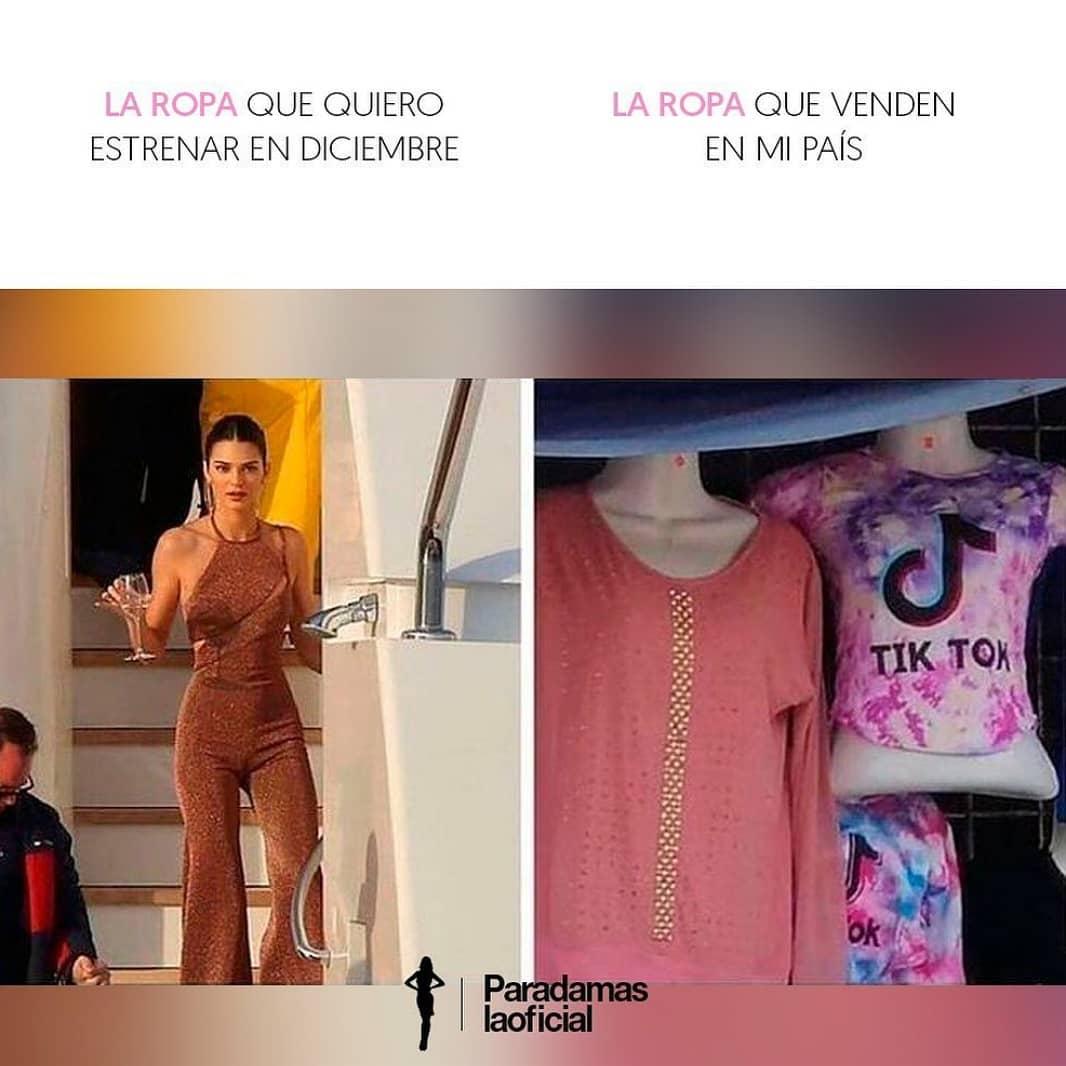 La ropa que quiero estrenar en Diciembre.  La ropa que venden en mi país.