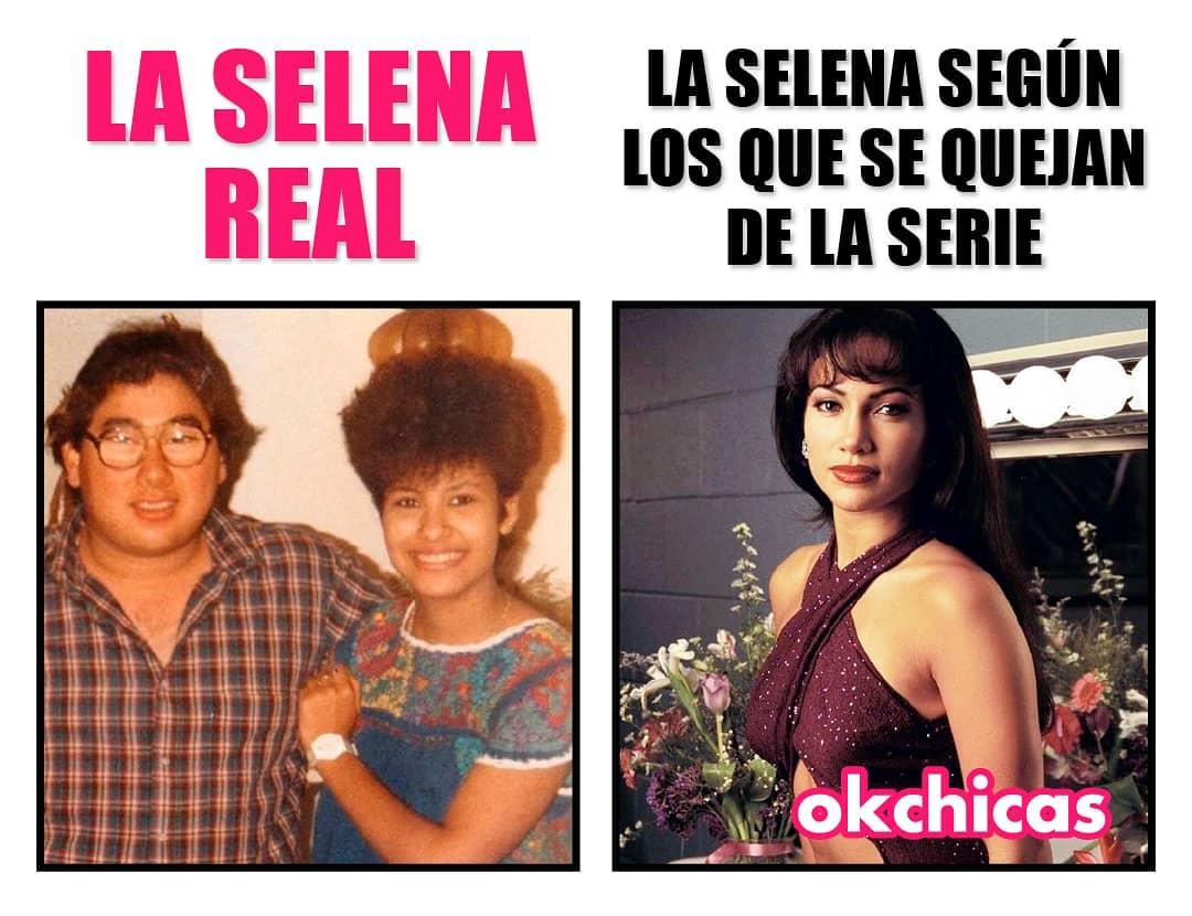 La Selena real.  La Selena según los que se quejan de la serie.