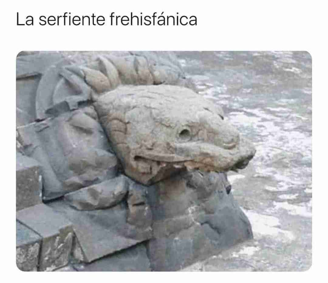 La serfiente frehisfánica.