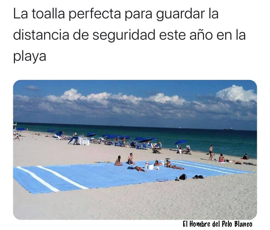 La toalla perfecta para guardar la distancia de seguridad este año en la playa.