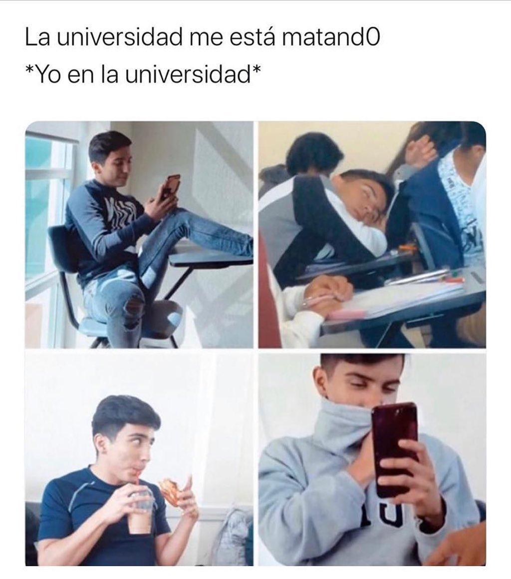 La universidad me está matando: *Yo en la universidad*