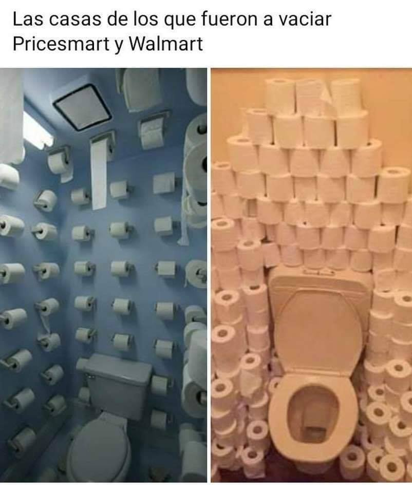 Las casas de los que fueron a vaciar Pricesmart y Walmart.