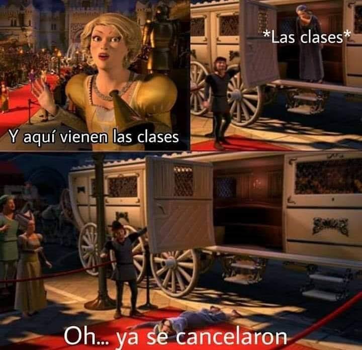*Las clases*  Y aquí vienen las clases.  Oh... ya se cancelaron.